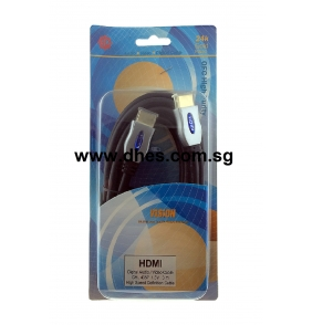 HL Vision 24k Gold Plated HDMI Digital Video /Video Cable CHL4357 (3.0m)