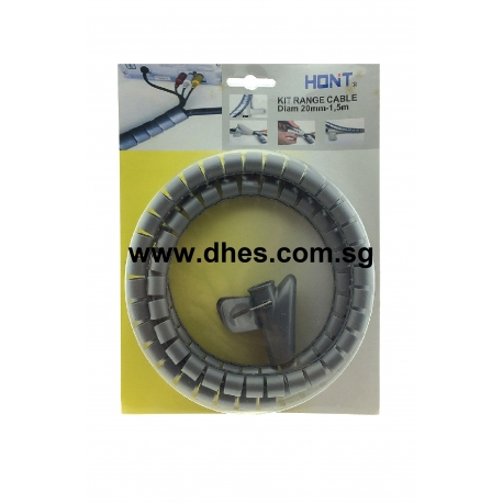 Honit 1.5m Grey Spiral Cable Organizer