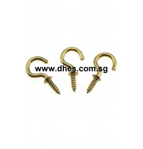 Brass Plated Screw Hooks