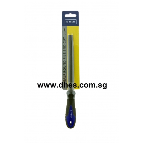 "G-Tech 6"" 2nd Cut Half Round File"