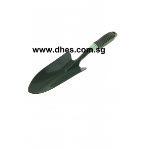 Green Metal Spade With Plastic Handle