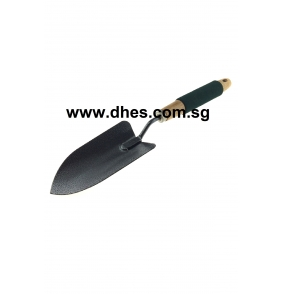 Metal Spade With Wooden Handle