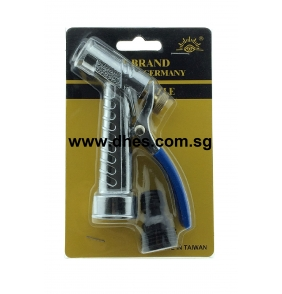Eye Brand Metal Plated Hose Nozzle With Black Male Connector