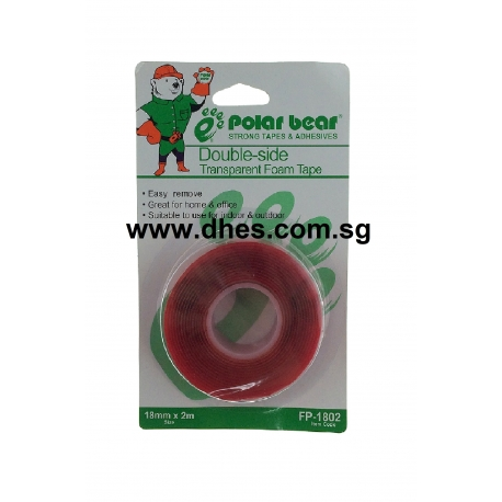 Polar Bear Double Sided Transparent Foam Tape