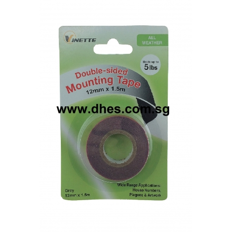 Vinette Grey Double Sided Mounting Tapes