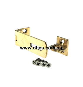 Everest Brass Plated Latches With Eye Loops