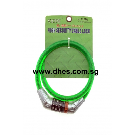 Vanni High Security Cable Number Lock