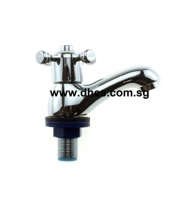 Showy X-knob Pillar Basin Tap