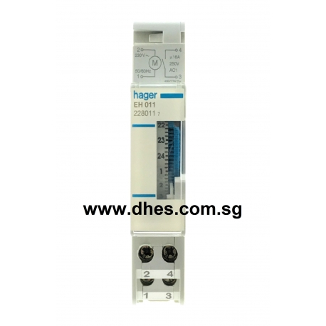 Hager Daily Time Switch With Reserve 1 Module