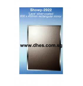 """Showy """"Lace"""" Silver Coated Rectangular Mirrors"""