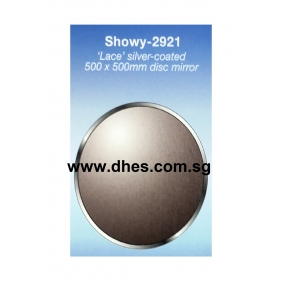 "Showy ""Lace"" Silver Coated Disc Mirrors"