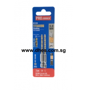 Pro Jobber 3mm Titanium Coated Drill Bits
