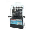 Anaca High-Speed Steel Drill Bit Set (19 Pcs)