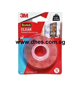 3M Permanent Clear Mounting Tape (21mm x 2m)