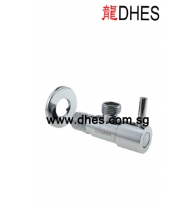 Chrome Plated Bidet Connector With Valve