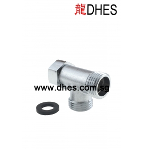 Chrome Plated Bidet Connector Without Valve