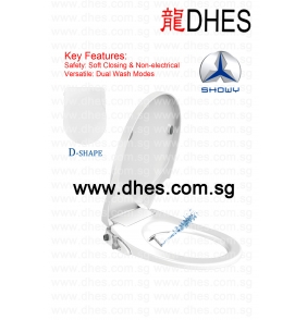 Showy Dual Function Non-Electrical Bidet Toilet Seat With Soft Closing